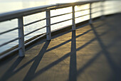 railing on waterfront pier