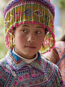 Flower Hmong gal in special ceremony garb. Bac Ha, Northern Vietnam (april, 2006)
