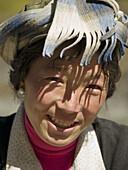 smiling Tibetan gal, Yading National Park, Szechuan, China