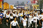 Pune International Marathon. participents ran 42 kms. Pune, Maharasthra, India