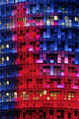 Building, Buildings, Cities, City, Color, Colored, Colorful, Colors, Colour, Coloured, Colourful, Colours, Exterior, Facade, Façade, Facades, Façades, Illuminated, Illumination, Lights, Low angle view, Night, Nighttime, Outdoor, Outdoors, Outside, Urban,