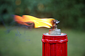 Burn, Burning, Color, Colour, Daytime, Decoration, Detail, Details, Energy, Exterior, Fire, Flame, Flames, Heat, Illumination, Lighting, Object, Objects, One, Outdoor, Outdoors, Outside, Power, Selective focus, Thing, Things, T86-554276, agefotostock