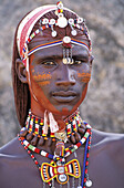 Africa, African, Attire, Bead, Beaded, Beading, Boy, Braid, Braided, Braiding, Clothing, Color, Colour, Custom, Dress, Ear, Earring, Face, Feather, Format, Hair, Headdress, Ivory, Jewellery, Jewelry, Kenya, Kenyan, Long, Male, Man, Maralal, Medium, Moran,