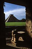 The Castle Pyramid from the Jaguar Temple Chichen Itza Mexico
