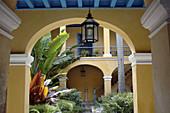 Courtyard, Palacio de los Condes de Casa Bayona (1720), Colonial Art Museum. Havana, Cuba.