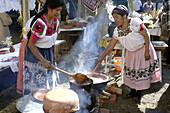 Purepecha Women Cooking Patzcuaro Mexico