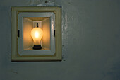 Old incandescent light fixture