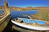 Uros Floating Islands. Titicaca Lake. Puno, Peru.