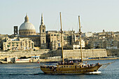 Overview. Carmelite Church and Saint Pauls Cathedral. Valletta. Malta
