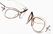 Accessories, Accessory, Alike, Clear, Close up, Close-up, Closeup, Color, Colour, Detail, Details, Eyeglasses, Fashion, Glasses, Horizontal, Indoor, Indoors, Interior, Object, Objects, Optics, Pair, Plastic, Same, Sameness, See-through, Sight, Special eff