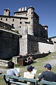 Château-Ville-Vieille, vallée Durance. Queyras. Hautes-Alpes. France.