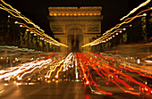 Arc de Triomphe and Champs Elysees. Paris. France