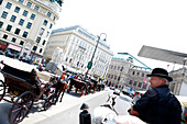 Horse and carriage, Albertinaplatz, Vienna, Austria