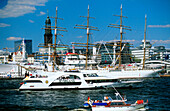 Europe, Germany, Hamburg, port of Hamburg, sightseeing boat for a cruise through the harbour