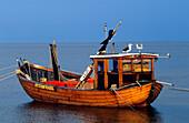 Europe, Germany, Mecklenburg-Western Pomerania, isle of Usedom, seaside resort Ahlbeck, fishing boat