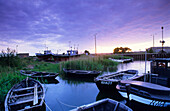 Europe, Germany, Mecklenburg-Western Pomerania, isle of Rügen, fishing boats near Gager