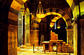 Europe, Germany, North Rhine-Westphalia, Aachen, the throne of Charlemagne in the cathedral at Aachen