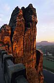 Bastei, Saxon Switzerland, Elbe Sandstone Mountains, Saxony, Germany
