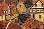 Europe, Germany, Saxony-Anhalt, Quedlinburg, historic town centre