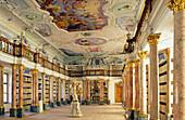 Europe, Germany, Bavaria, Ottobeuren, Ottobeuren Abbey Library