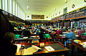 Europe, Germany, Saxony, Leipzig, German National Library (former Deutsche Bücherei), interior view, reading room