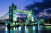 Europe, Great Britain, England, London, Tower Bridge and river Thames