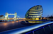 Europe, Great Britain, England, London, City Hall of London on the south bank of the River Thames
