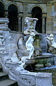 Europe, England, Kent, Hever, Hever Castle, Gardens, Statues and fountain