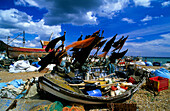 Europe, England, East Sussex, Hastings, fishing boat