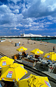 Europe, England, East Sussex, Brighton, Brighton Pier, beach bar