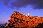 Europe, Spain, Majorca, Cap Formentor. Lighthouse