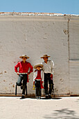 Three caballeros in San Pedro de Atacama, Chile, South America