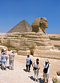 People looking at Sphinx, Egypt