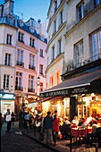 Street scene in Quartier Latin. Paris. France