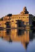 Jain Temple. Amar Sagar. Jaisalmer. Rajasthan. India.
