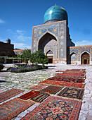 Tilla-Kari Medressa, carpets. Samarkand. Uzbekistan.