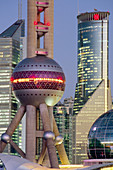 The Orient Pearl TV Tower in Pudong business district, Shanghai. China