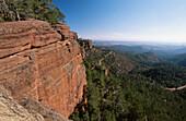 Protected area Pinares de Rodeno. Albarracin mountain range in Teruel province. Aragon, Spain