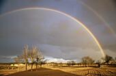 Rainbow near Almansa. Albacete province, Castilla-La Mancha. Spain