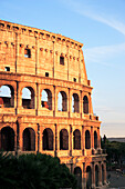 Colosseum in the evening, Arch of Constantine in backgorund, Rome, Italy