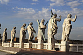 Statues on St. Peter's Basilica, Vatican City, Rome, Italy