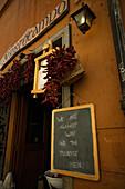Restaurant, nicht für Touristen, Trastevere, Rom, Italien