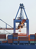 Container crane in the container port, Hamburg, Germany