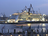 Cruise ship Jewel of the Seas in the dockyard, Hanseatic City of Hamburg, Germany