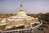 Katmandu Valley near Katmandu City. Bodhnath Stupa. Nepal.