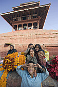 Katmandu City. Durbar Square. Children