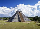 Yucatan. Chichen Itza City. The Castle Piramid . Mexico.
