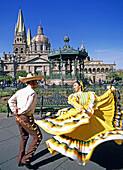 Guadalajara City. Dancers. Mexico.