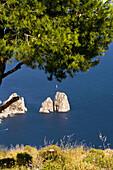 Monte (mount) Solaro. The Faraglioni. Capri. Italy.