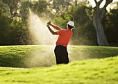 Contemporary, Daytime, Exterior, Fit, Full-body, Full-length, Generation X, Golf, Golf club, Golf c